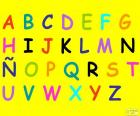 Alphabet with capital letters