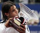 Rafa Nadal whit a trophy