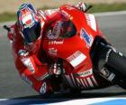 Casey Stoner piloting its moto GP
