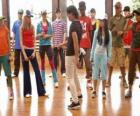 The singer Shane Gray (Joe Jonas) giving a dance class