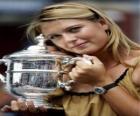 Maria Sharapova whit a trophy