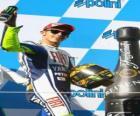 Valentino Rossi in the podium