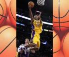 Kobe Bryant going for a slam dunk