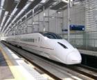 Train of high-speed railway lines in Japan operated (Shinkansen)