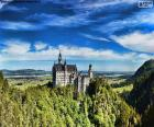 Fortified building or castle on top of a mountain