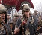 Roman soldiers on the battlefield