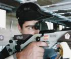 Shooting sports - Rifle shooter in action