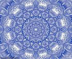 Blue flower mandala