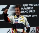 Fernando Alonso in the podium