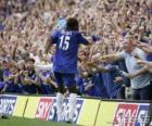 Didier Drogba celebrating a goal