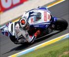 Jorge Lorenzo piloting its moto GP