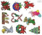 Christmas ornaments drawings