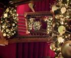 Staircase decorated