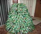 Christmas tree made from soda cans