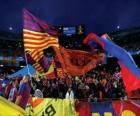 F. C. Barcelona flag