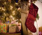 Christmas sock hung
