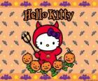 Hello Kitty dressed on Halloween