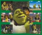 Several pictures of Shrek