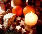 Christmas candel lit