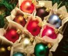 Christmas balls box