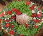 Christmas wreath made of plant elements