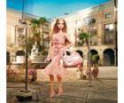 Barbie actress filming an ad