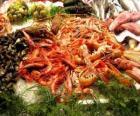 Seafood varied