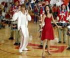 Gabriella Montez (Vanessa Hudgens) Troy Bolton (Zac Efron) singing and dancing
