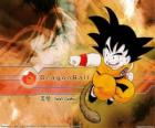 Son Goku is a Saiyan child that has grown in the mountains learning martial arts from his grandfather and has a twist: its tail.