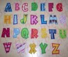 Capital letters, alphabet