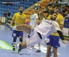 Handball - Player in a launch