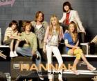 "Main characters from Hannah Montana, Miley Ray Stewart, Lillian ""Lilly"" Truscott, Oliver Oscar Oken, Rod Stewart Jackson, Robby Ray Stewart and Rico Suave."
