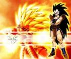 Raditz, a Saiyan, Son Goku's older brother who managed to survive the destruction of planet Vegeta