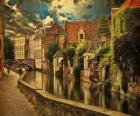 Historic city center of Bruges, Belgium