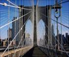 Suspension bridge over the river, New York