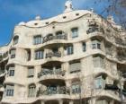 Works of Antoni Gaudí. La Pedrera or Casa Mila by Gaudi, Barcelona, Spain.