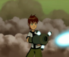 Ben 10 shooting with a cannon