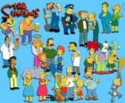Several characters from The Simpsons