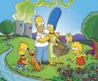 The Simpson family on a picnic day