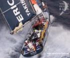 Sailboat in the Volvo Ocean Race