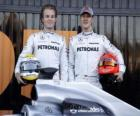 Michael Schumacher and Nico Rosberg, Mercedes Team drivers GP