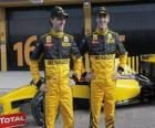 Robert Kubica and Vitaly Petrov, pilots of the Renault F1 Scuderia
