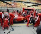 Ferrari pit stop practice, Shanghai 2010