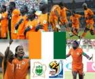 Selection Ivory Coast's, Group G, South Africa 2010