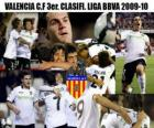 Valencia CF 3rd. Classified League BBVA 2009-2010