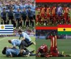 Uruguay - Ghana, quarter finals, South Africa 2010