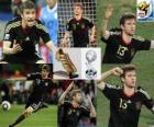 Thomas Müller top scorer (Golden Boot) World Cup Soccer South Africa 2010 and best young player of the tournament.