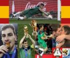 Best goalkeeper Iker Casillas (Gold Glove) of the Football World Cup 2010 South Africa