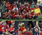 Spain, champion of the Football World Cup 2010 South Africa
