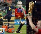 Andres Iniesta, best player in the final of the Football World Cup 2010 South Africa